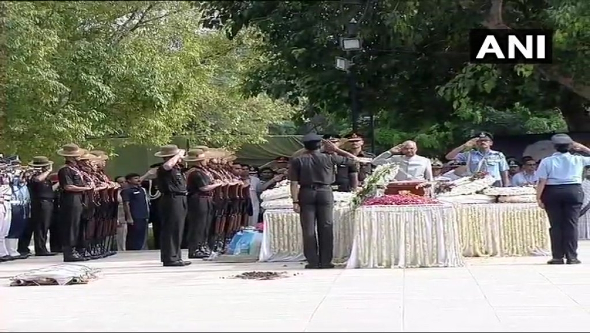 Last salute accorded to the former prime minister by President Ram Nath Kovind.