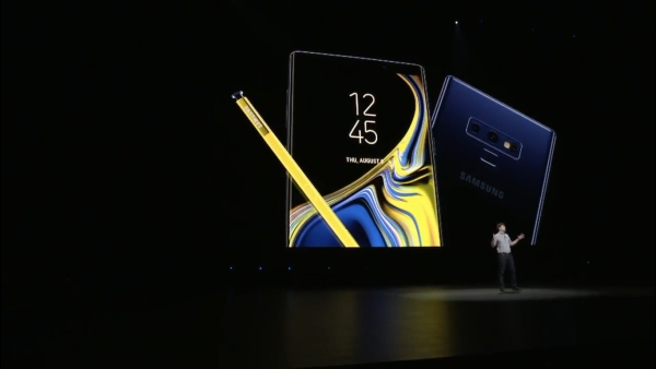The new Samsung Galaxy Note 9 launched.