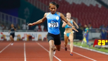 Sprint sensation Hima Das will be running in the preliminary round in the morning while the final will be held in the evening.