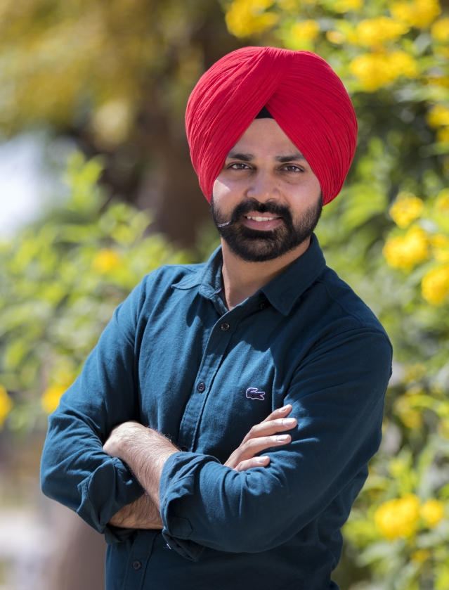 """""""Early in my career, I was made to believe that I won't go far if I wore my turban,"""" says Sarab Ghumaan."""
