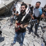 Artists Perform Amidst Ruins of Bombed Cultural Centre in Gaza