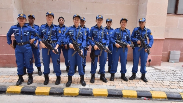 The newly inducted all women SWAT commandos of Special Cell.