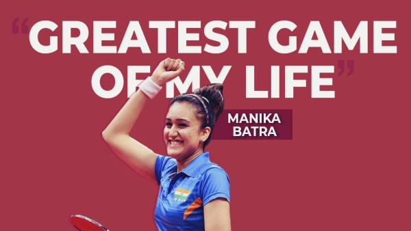 Table tennis player Manika Batra recalls India's remarkable victory over Singapore in the women's team event final at CWG 2018.