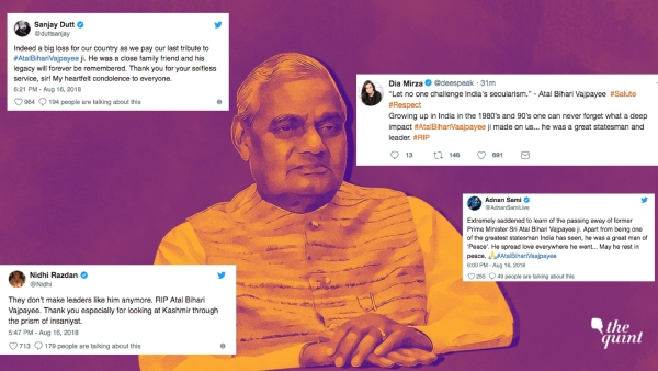 A three-time prime minister, Vajpayee was an unforgettable man who made significant contributions to the society and politics in India.