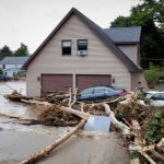 Governor Cuomo's Press Office shows destruction from flooding in the Lodi area of New York
