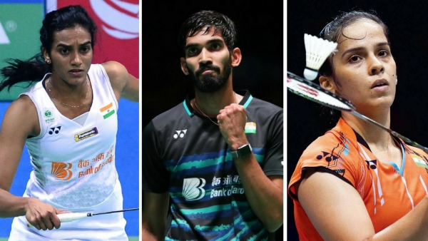 From left: PV Sindhu, Kidambi Srikanth and Saina Nehwal.