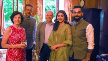 Virat Kohli and Anushka Sharma at the High Commission visit.