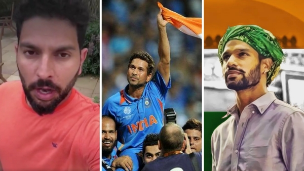 Yuvraj Singh, Sachin Tendulkar and Shikhar Dhawan were some of the cricketers who posted messages on social media wishing the country on Independence Day