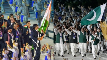 At the ongoing Asian Games, athletes from India and Pakistan mingle freely and even cheer for each other.
