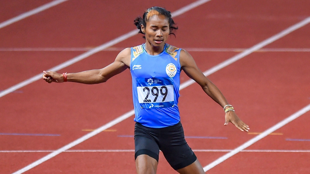 Hima Das has qualified for the women's 200m semi-finals.