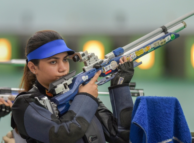 Apurvi Chandela qualified for the final of the 10m Air Rifle final in the second spot.