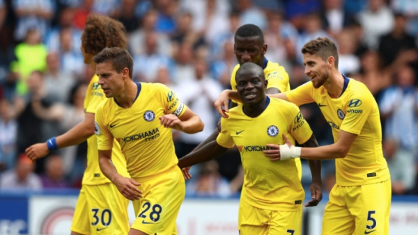 Coach Sarri Starts EPL Life With Chelsea Beating Huddersfield 3-0