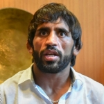 Bajrang Punia addressing a press conference in New Delhi on Thursday