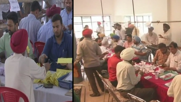 Counting of votes underway in Punjab.