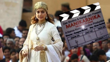 Kangana Ranaut on the sets of <i>Manikarnika: The Queen of Jhansi. </i>