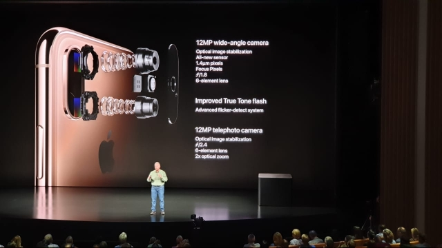 New cameras on the iPhone XS with smaller pixel sensors.