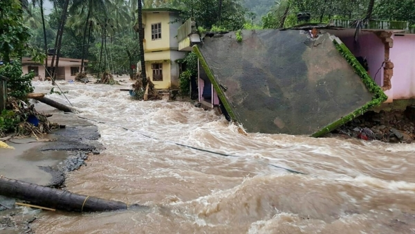 Kerala was hit by heavy rainfall and floods in August this year.