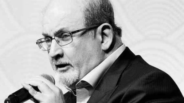 British author Salman Rushdie.