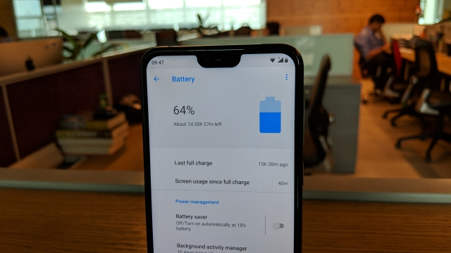 3060mAh battery on the Nokia 6.1 Plus.