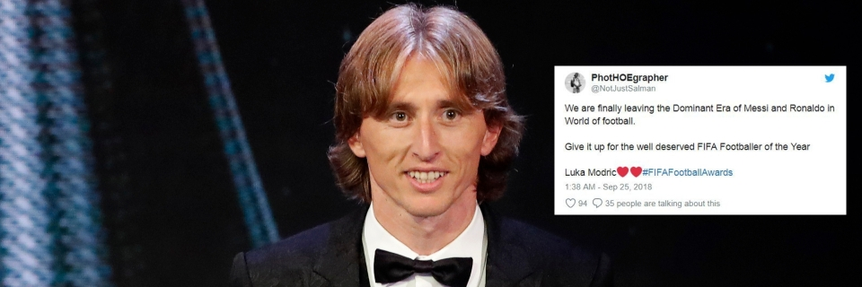 d639052ddbe Croatia s Luka Modric received the Best FIFA Men s Player award during the  ceremony of the Best