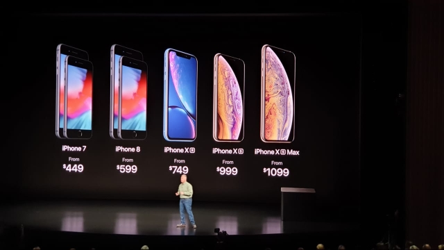 Here's what the new iPhones and the older one cost later this year.