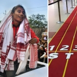 Unique Welcome For Hima Das at Guwahati Airport After Asiad Win