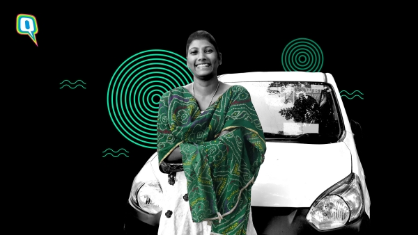 Kolkata's first Uber driver Sushama Midde, with her car.