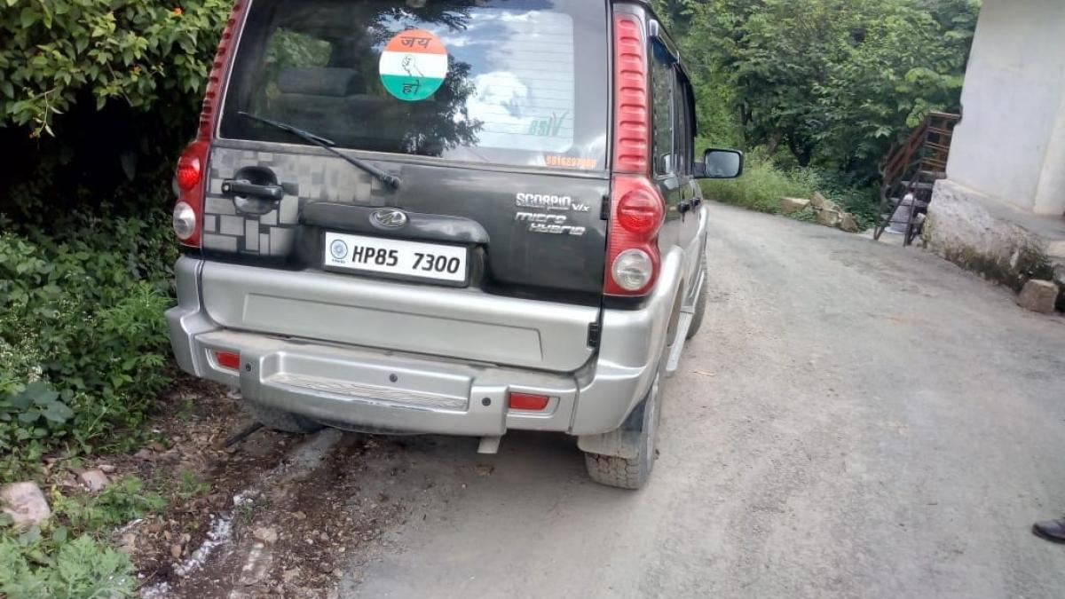 Photo of the Scorpio that ran over Kedar Singh Jindan.