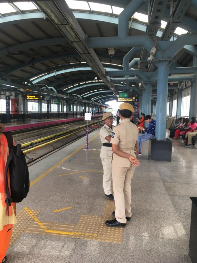 Security has been beefed up at metro stations across Bengaluru.