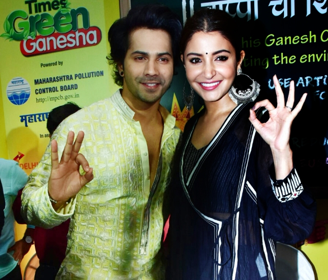 Varun Dhawan and Anushka Sharma promote an eco -friendly Ganesh Chaturthi.
