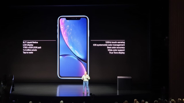 The iPhone Xr gets a 6.1-inch screen but with an LCD panel.