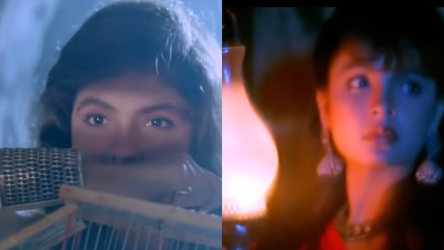The camera romances the beautiful Bhatt in <i>Sadak</i>.
