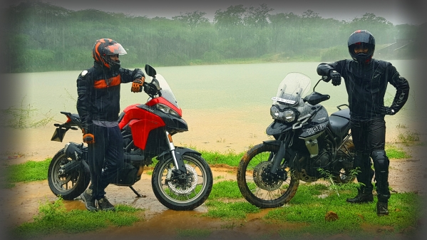 The Ducati Multistrada 950 (left) & the Triumph Tiger 800 XcX (right).