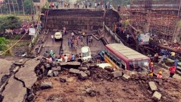Majerhat flyover collapses in South Kolkata on 4 September.
