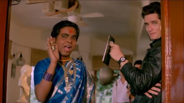 Sadashiv Amrapurkar's award-winning performance as the Maharani in <i>Sadak</i>.