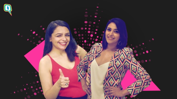 Swara Bhasker (R) in a Never Have I Ever fireside chat with Divyani Rattanpal (L)