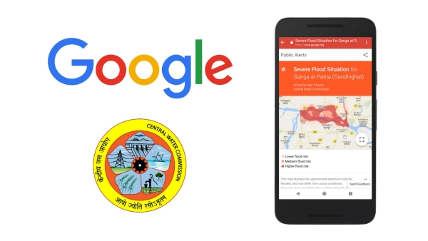 Google has partnered with India's Central Water Commission in order to alert people on flood warnings.