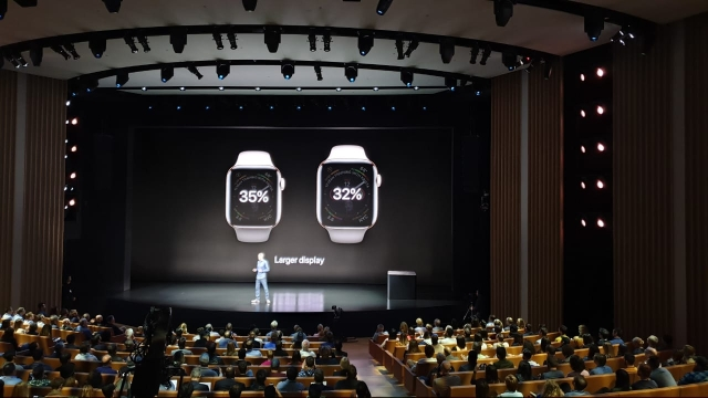 The new Apple Watch gets a bigger display.