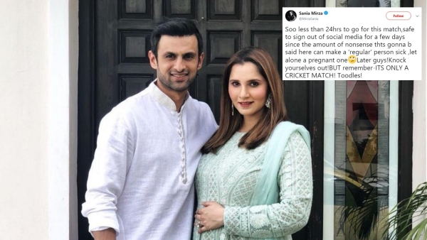Tennis champion Sania Mirza decided to sign out of her social media accounts ahead of the India-Pakistan match.