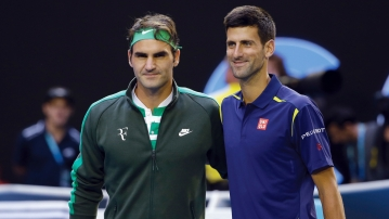 Roger Federer and Novak Djokovic will play on the same side of the net for the first time.