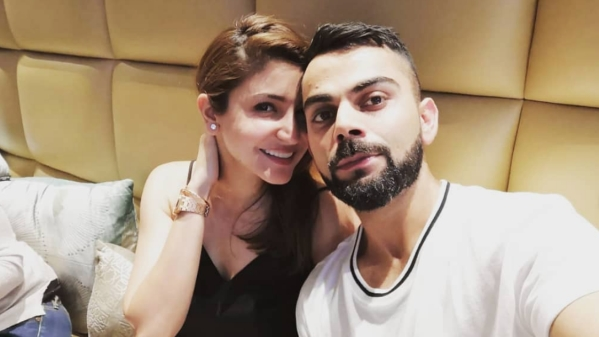 Indian cricket captain Virat Kohli, currently rested from the Asia Cup, posted a picture with Anushka Sharma on Sunday.