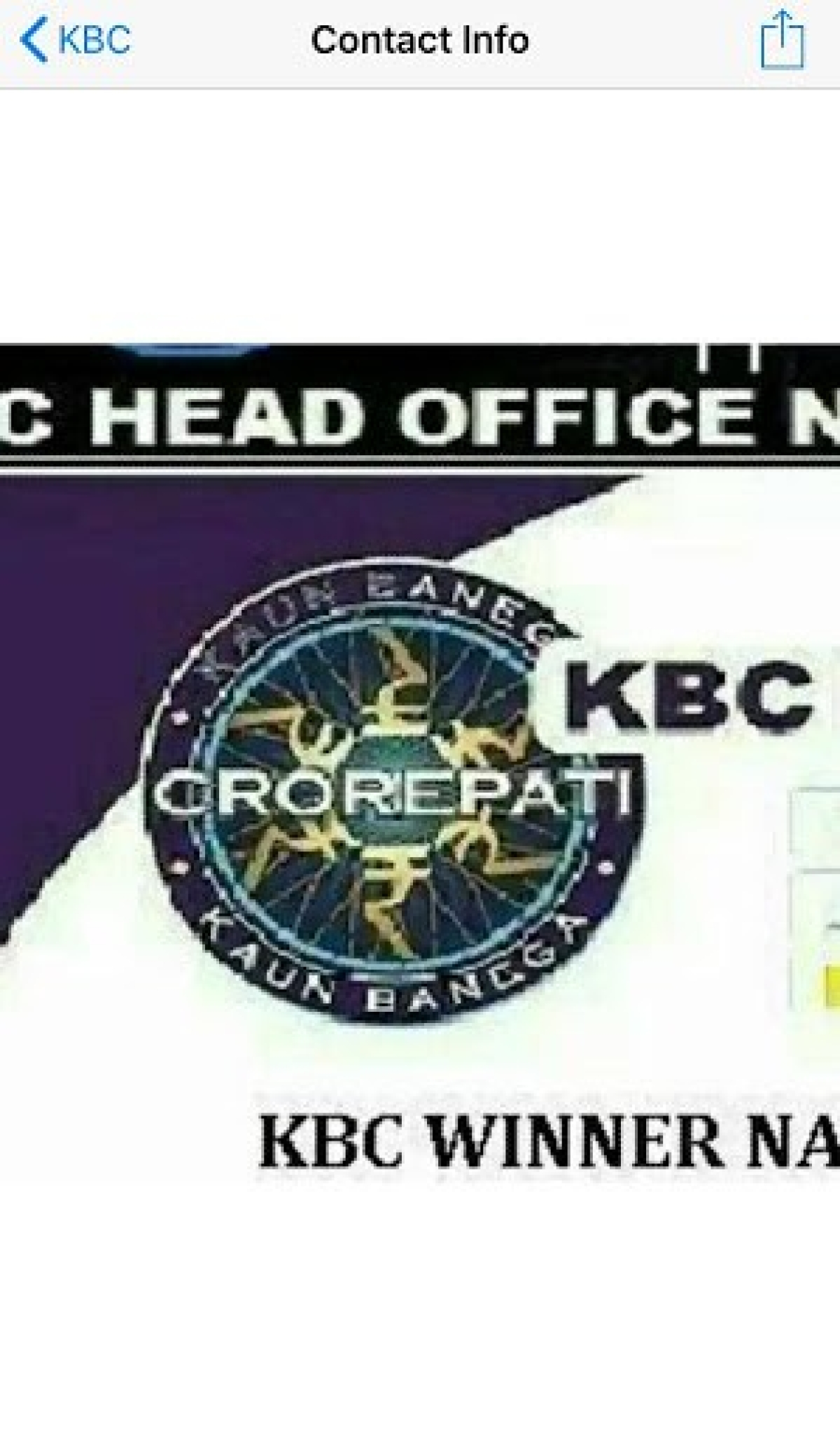 WebQoof: KBC Lottery Message Promising 25 Lakh is Fake
