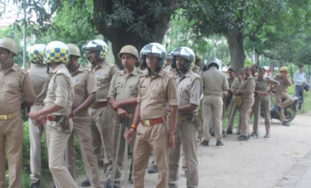 Varanasi: Security beefed up at the Banaras Hindu University (BHU) after students of two hostels - Aiyyar and Birla hostels- clashed over mess food being forcibly eaten by unauthorised inmates in Varanasi on Sept 12, 2018. Varsity officials are looking at the CCTV footage to identify the guilty (Photo: IANS)