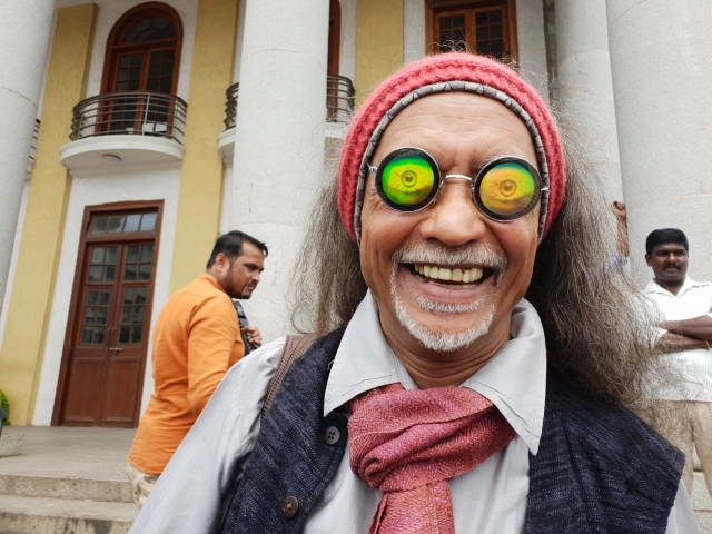 A happy man in Bengaluru after Supreme Court's verdict.