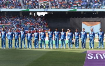 Dubai: Indian players stand during the National Anthem ahead of the Asia Cup 2018 final match between India and Bangladesh at Dubai International Cricket Stadium in Dubai, UAE on Sept 28, 2018. (Photo: Surjeet Yadav/IANS)