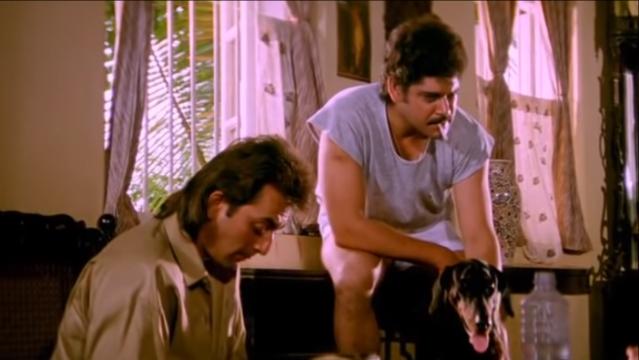 Pankaj Dheer as the Inspector in <i>Sadak</i>.