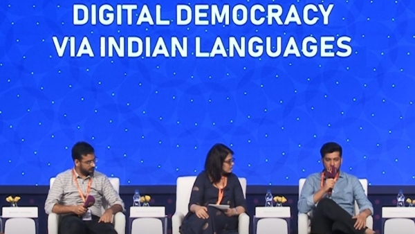 Indian language startup founders discuss govt's role in regional digital media at 'Bol: Love Your Bhasha' event.