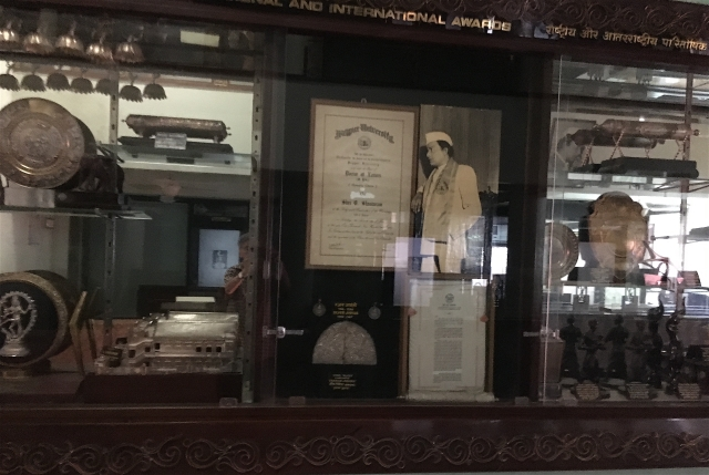 The vast number of National and international awards and trophies won by V Shantaram  have been carefully preserved.