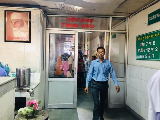 The emergency ward in Amritsar Civil Hospital.