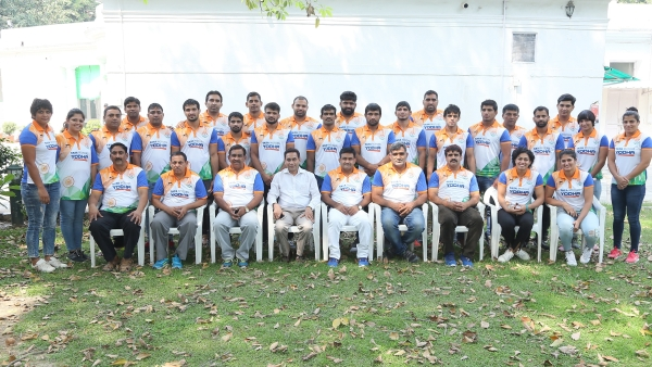 Members of the Indian wrestling team who will be competing in this month's World Wrestling Championships in Budapest.